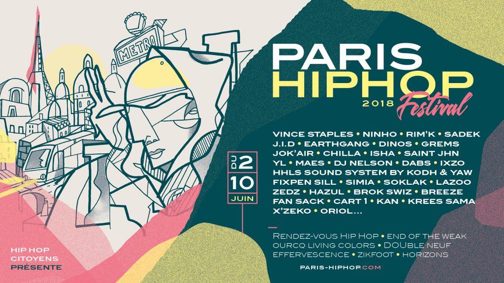 Programmation Paris Hip Hop 2018